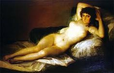 The Nude Maja, 1800 By Goya