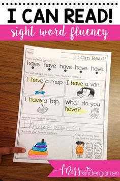Make teaching sight words fun in your kindergarten classroom or at home! These printables are great for struggling readers who need more practice reading their sight words in context. Perfect for centers, guided reading activities, morning work, or homework. Follow the link to see how I use it in my classroom.#sightwords #printables #readingfluency #misskindergarten