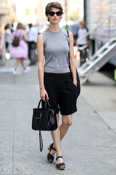 Are you calling a Celine and black simple? This simple math makes for some complicated awesome. NYFW