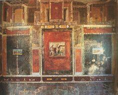 Third Style Fresco - House of Marcus Lucretius Fronto (www. pompeii.org.uk)
