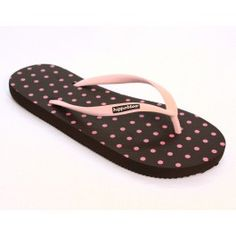 Flip Flops- Polka Dot Pink