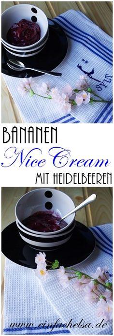 Nice Cream mit Bananen und Heidelbeeren - einfach und selbstgemacht, der perfekte vegane Snack vor allem für den Sommer - einfaches veganes Eis schnell selbst gemacht.