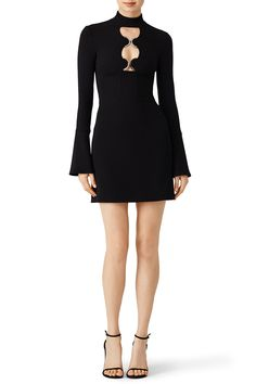 [Picked from Rent The Runway] Black crepe (93% Wool, 5% Polyamide, 2% Elastane). Long sleeves. High neckline. Hourglass. Exposed back zipper. Fully lined. 33.5'' from shoulder to hemline. Imported. $410.00 Buy It Now ! Keyhole Dress, Rent The Runway, David Koma, High Fashion, Dresses For Work, Stuff To Buy, Black, Design, Style