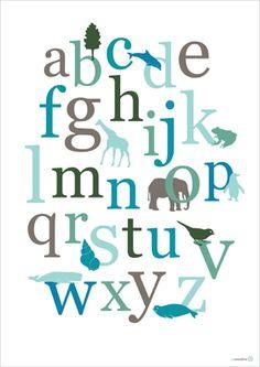 abc poster - Totaal - Posters voor op de kinderkamer - Productoverzicht - CCCollection