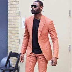 Custom Made Groomsmen One Button Groom Tuxedos Peak Black Lapel Men Suits Wedding Best Man Blazer ( Jacket+Pants+Tie ) New Mens Suits, Dress Suits For Men, Mens Fashion Suits, Suit And Tie, Men Dress, Fashion Hats, Fashion Rings, Men's Suits, Terno Casual
