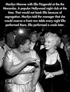 I never considered Marilyn a good role model but this was sweet.