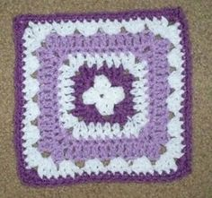 """Ravelry: Simple 7"""" Granny Square pattern by Marie Anne St. Jean"""