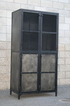 Industrial cupboard Industrial Armoire Pantry Cabinet. by leecowen