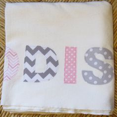 Personalized Newborn Blanket  Flannel Swaddle by VeeSewMadeThat, $30.95