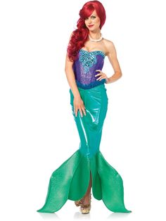 Channel the mystery and wonder of the ocean with this Sexy Deep Sea Siren Costume.