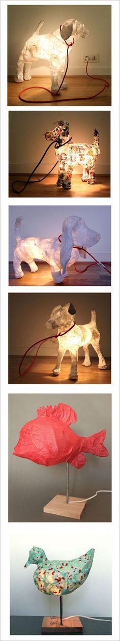 deco papier maché trophées animaux sculpture art créateur howne blog inspiration déco