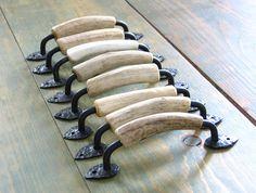 deer antler cabinet handles - real antler furniture hardware - set of 8 $200.00
