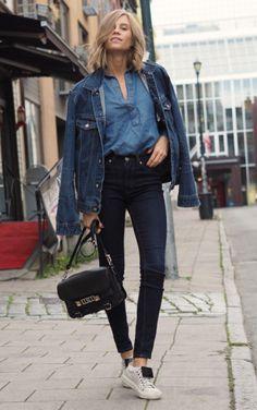 Denim On Denim Trends, Street Chic, Street Style