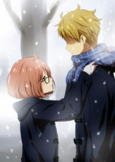 Browse Kyoukai No Kanata Mirai Kuriyama collected by Driss Erghouni and make your own Anime album. Romantic Anime Couples, Cute Anime Couples, Manga Couple, Anime Love Couple, Otaku, Anime Amor, Manga Anime, Anime Cosplay, Kawaii Anime