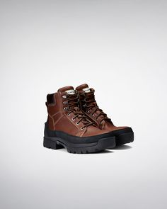 Womens Brown Balmoral Lace Up Boots | Official Hunter Boots Site