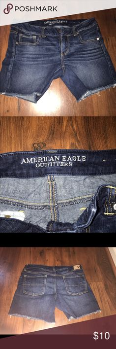 American eagle jean midi shorts size 10 EUC American eagle jean midi shorts size ten EUC  Let's bundle !  10% off on ANY two items purchased AND shipped together.  15% off ANY three items purchased AND shipped together! Shorts Jean Shorts