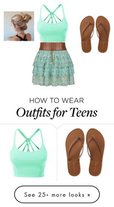 """Beach"" by ilariasophia-fiore on Polyvore featuring LE3NO and Aéropostale"