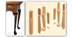 Making Cabriole Legs - Furniture Leg Construction - Woodwork, Woodworking, Woodworking Plans, Woodworking Projects