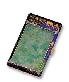 Art Deco 18K Gold, Jade, Enamel and Diamond Vanity Case, Cartier, Paris, circa 1930 - Sotheby's