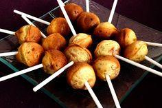Cake pops jambon fromage (boursin, jambon, creme fraîche, 2 oeufs, levure...)