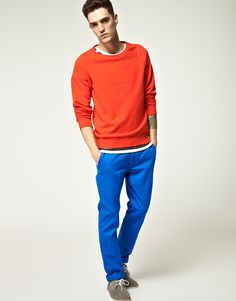 Cheap Monday electric blue chinos