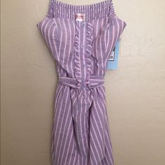 Mossimo strapless dress, purple stripe. Size M Light weight, strapless dress in a pretty purple stripe pattern. Tie-back. Fun dress for spring and summer! New with tags. Mossimo Supply Co Dresses Mini