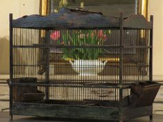 Antique birdcage 24 by ChezPluie on Etsy