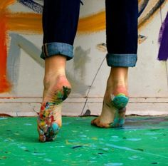 Happy feet are those that have seen a day of creativity and accomplishment. #Art #Smile #Happy