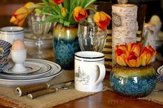 Spring in a Cabin Tablescape