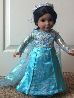 9c2cbb959d64a Elsa Costume/ Princess/Frozen outfit for 18