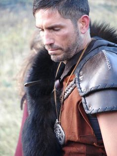 "Viking-age Jim Caviezel in ""Outlander."" I like this movie. I wasn't sure the first time I saw it but it has grown on me and now I quite enjoy it."