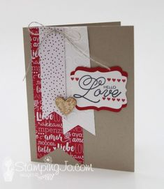 Good Morning! I am back today with another Valentine card to show you using the new Sealed With Love stamp set from the 2017 Occasions Catalogue. I love the look of the Real Red and Whisper White with the Crumb Cake and wood elements.  How To Make It: This Valentine card starts with a cardbase  {Read More...}