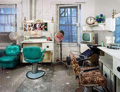 abandoned asylum by christopher payne: beauty salon, trenton state hospital, new jersey