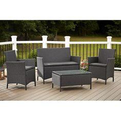 mainstays sonoma 4 piece patio conversation set seats 4