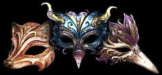 Nice trio of animal masks.
