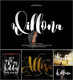 willona typeface with glyths