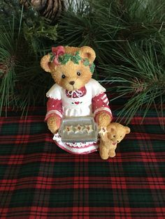 "Cherished Teddies, ""Here's Some Cheer To Last the Year,"" 1995 by JustClickThreeTimes on Etsy"