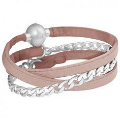 """Das Wickelarmband """"Goa"""" mit mattversilberter Panzerkette ist die perfekte Ergänzung zu deinem Tagesoutfit. Das Armband vom Label """"Sence Copenhagen""""."""