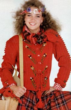 I remember this was my absolute favorite outfit from the December 1981 issue of Seventeen Magazine.  I still love it to this day.  Model is Tara Fitzpatrick. This was also featured on the magazine cover.