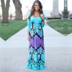 Women-Sexy-Boho-Maxi-Dress-Summer-Long-Sleeve-Evening-Cocktail-Party-Beach-Dress
