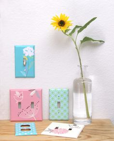 DIY: Make Your Own Designer Switchplates | A Piece Of Rainbow