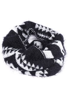 Snowflake Knit Mohair  Scarf--white