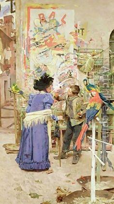 Édouard J. Menta (1858-1915)  Bird seller