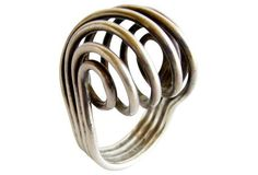 Plus Norway Modernist Spiral Silver Ring