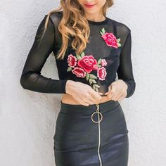 Desiree Rose Mesh Top