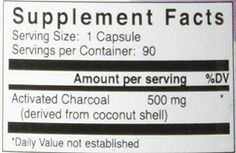 Bulletproof Upgraded Coconut Charcoal Capsules - 90 Ct.(500 mg)