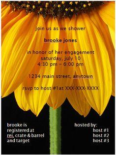 craftalie: sunflower bridal shower