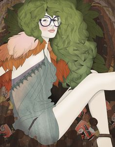 Illustrator Anne Lueck---- this could be me if I donned the specs