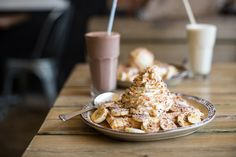 I really want to try banoffee waffles and have a chocolate milkshake at The Waffle House in St. Places To Visit Uk, How To Be Single, Food Film, Waffle House, Chocolate Milkshake, Banoffee, Belgian Waffles, Fab Life, St Albans