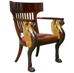 36270402443b3 French Empire Style Chair by Frederick Victoria